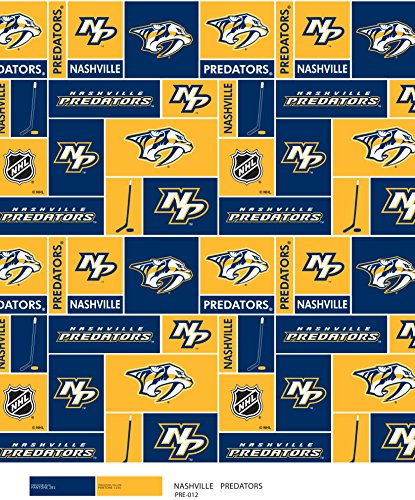 Nashville Predators Super Soft Fleece Fabric Classic Geometric Design-Sold by The Yard
