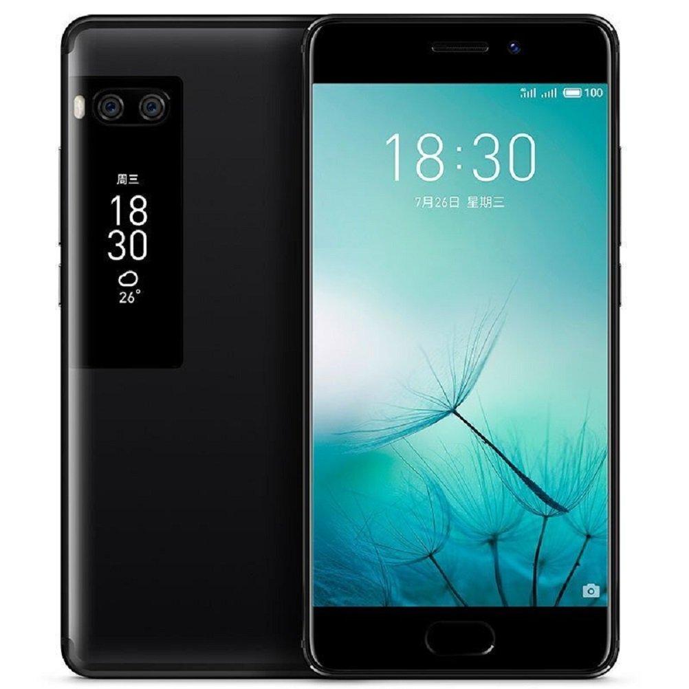 Meizu Pro 7 Plus Smartphone 6GB 64GB 5.7'' 2K Super AMOLED Screen Deca Core Helio X30 Dual Rear Camera Two-sided Screen (Black)