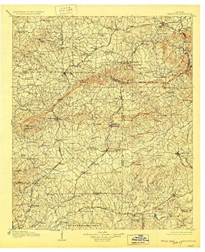 YellowMaps Talbotton GA topo map, 1:125000 Scale, 30 X 30 Minute, Historical, 1907, Updated 1928, 20.7 x 16.8 in - Paper