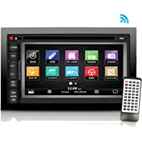 """Pyle Premium 6.5""""-Inch Double-DIN - Car Stereo Receiver with Bluetooth, Dash Touchscreen Screen, TFT/LCD Monitor, CD/DVD Player, Disc /MP3/MP4/USB/SD/Am/FM (NO Navigation Disc Included) (PLDNV66B)"""