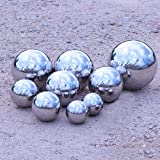 UShodor 9 Pieces/Set, Stainless Steel Gazing Ball Mirror Globe Polished Shiny Sphere for Homes and Gardens Ornament (Silver)