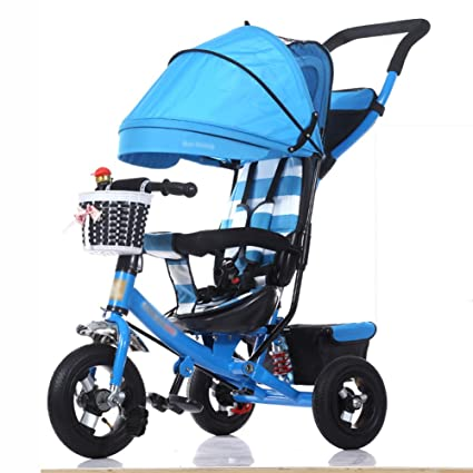 Tricycles Children Foldable Baby Carriage Bicycle 1-3-5 Years Old Child Bike Trolley