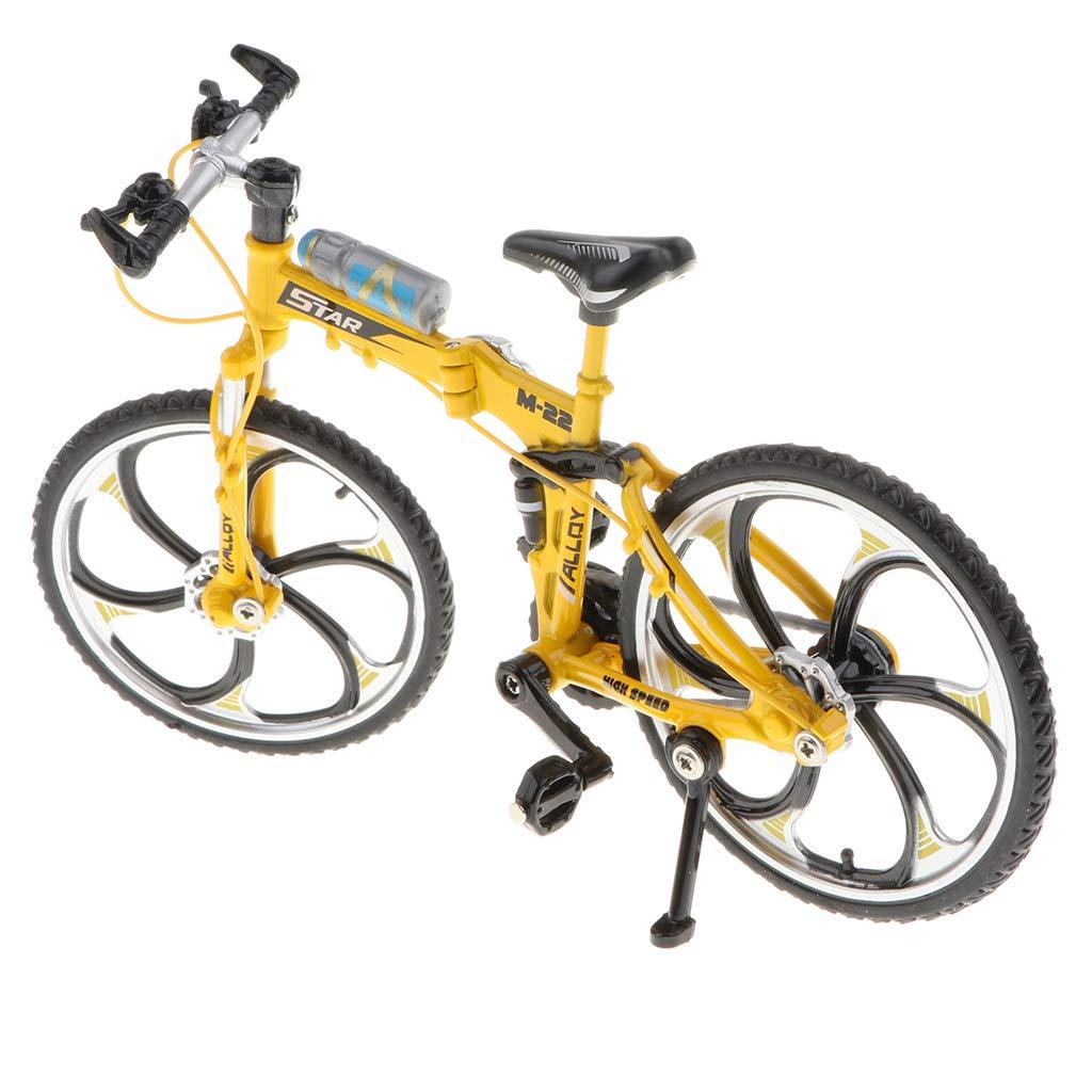 Non brand Sharplace Giocattolo della Bicicletta Dellartigianato della Bici Diecast in Lega della Scala 1:10 Rosso1