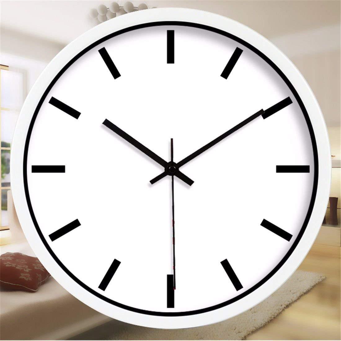 Chuangshengnet ウォールクロックノンチックナンバークォーツウォールクロックリビングルーム装飾的な屋内時計寝室の時計キッチン時計?シンプルモダン黒と白のアールデコ調のクリエイティブ時計   B07S7N7WJT