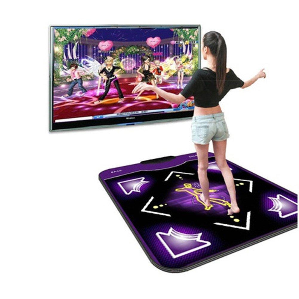 Beautyonline Non-Slip Dancing Mats Pad Dancer Blanket Rhythm and Beat Game Dancing Step Pad USB Pad Fitness Equipment for PC Laptop
