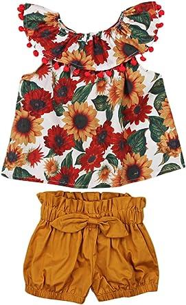 HBER - Conjunto de ropa de verano para bebé de 1 a 6 años de ...