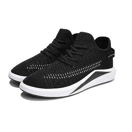 MuMa Calzado Deportivo de Verano Zapatos Negros para Hombres Zapatos  Respirables Zapatos Casuales para Hombres Zapatos b2347f67452fc