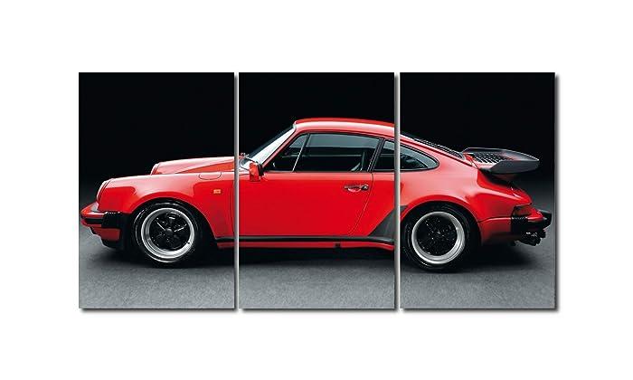 Triptico porsche 911 Turbo 100x50 cm