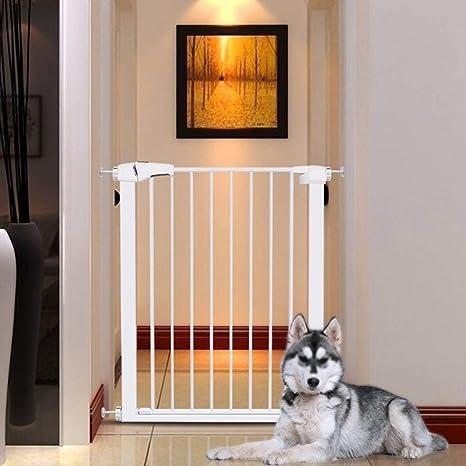 Puertas de seguridad para niños con puertas para mascotas Puertas extra anchas y altas para escaleras Cerca de la chimenea Parque para el bebé Extensión de la puerta de seguridad para niños: