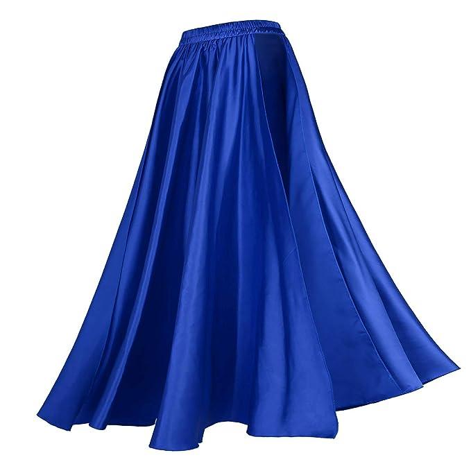 42abd4b2db YiZYiF Falda Larga Danza Servillana para Mujer Falda Traje de Bailarina  Tango Flamenco Baile Latino Salsa Dancewear Azul Talla Única  Amazon.es   Ropa y ...