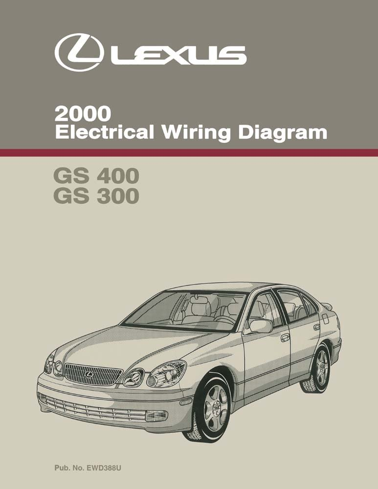 amazon com: bishko automotive literature 2000 lexus gs 400 gs 300 wiring  diagrams schematics layout factory oem: automotive
