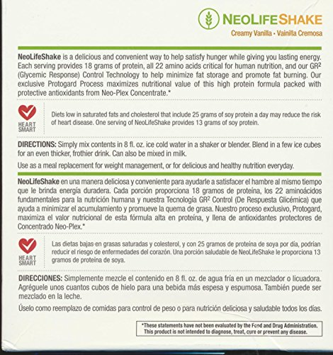Amazon.com: Neolifeshake Creamy Vanilla Box of 15 Packets: Health & Personal Care