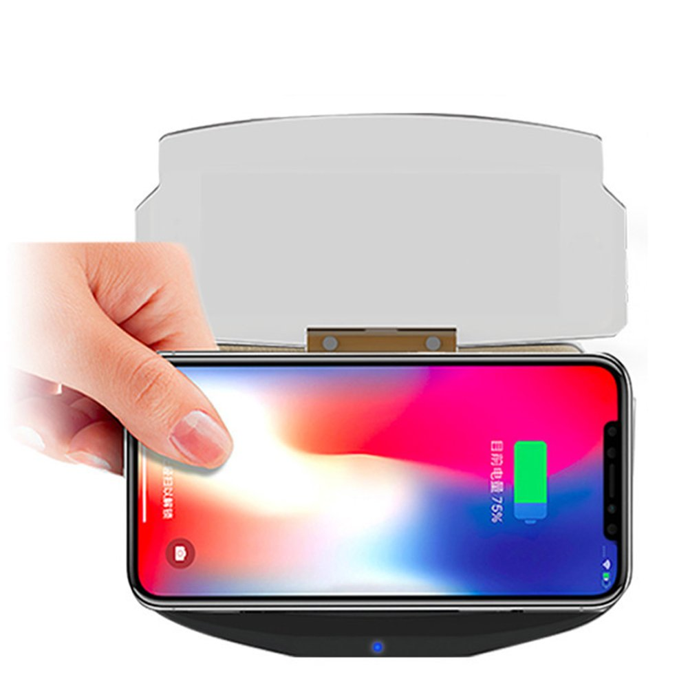 HUD Car Wireless Charging Mobile Phone Navigation Bracket Two In One Car Use QI Fast Charge Base