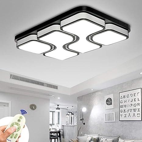Miwooho 78w Led Deckenleuchte Dimmbar Deckenlampe Modern Design Schlafzimmer Kuche Flur Wohnzimmer Lampe Wandleuchte Energie Sparen Licht Energieklasse A Amazon De Beleuchtung