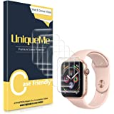 [6 PACK] UniqueMe compatible with Apple Watch Series 1/2 / 3 (42mm) Screen Protector, [Anhydrous adsorption] [Flexible…