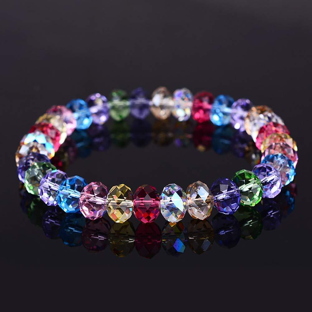 8Mm 10 Colores Perlas De Facetas Perlas De Cristal para La Fabricaci/ón De Joyas,Proyectos De Abalorios De DIY TOOGOO 300 Pcs Cuentas De Vidrio Pulseras Pendientes Collares