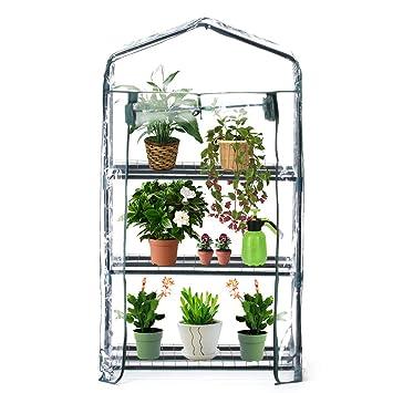 Worth Garden 3 étagères Mini Serre PVC Couverture Plante de Jardin ...