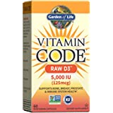 Garden of Life Vitamin D, Vitamin Code Raw D3, Vitamin D 5,000 IU, Raw Whole Food Vitamin D Supplements with Chlorella, Fruit