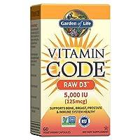 Garden of Life Vitamin D, Vitamin Code Raw D3, Vitamin D 5,000 IU, Raw Whole Food...