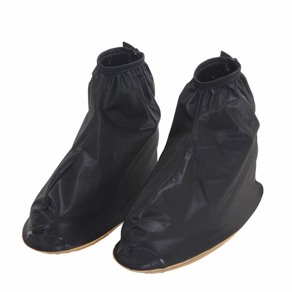 Reusable Rain Shoes Covers Waterproof Adjustabler Rain Boot Women Men Shoes Black XL