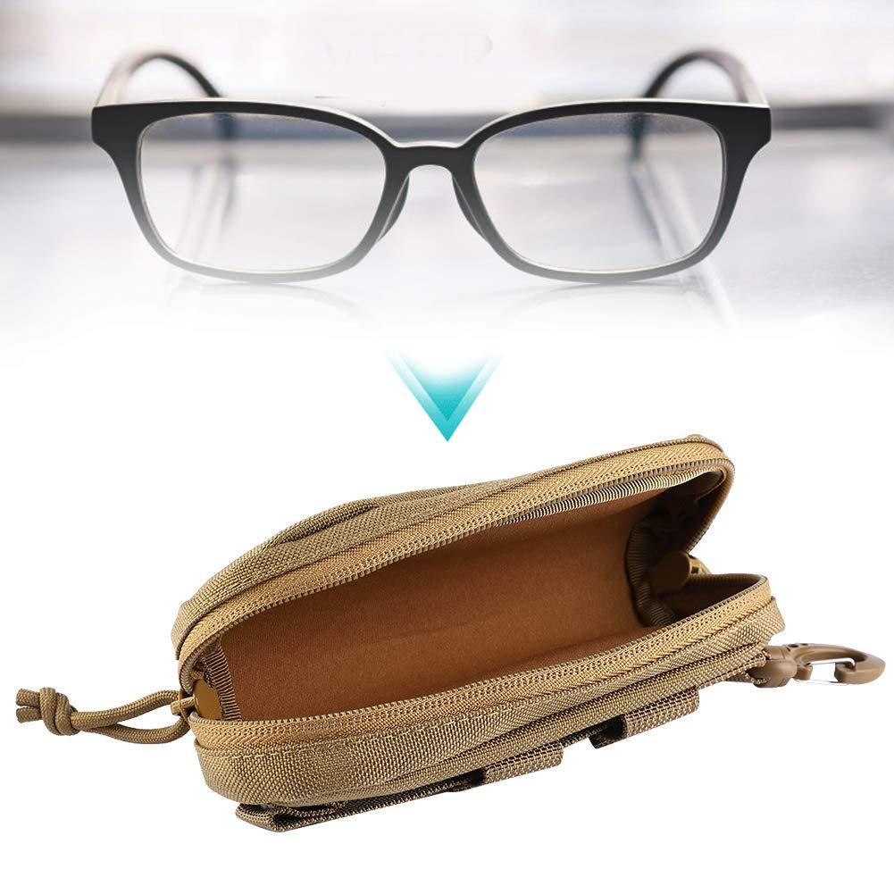 Khaki Outdoor Tragbare Brillen Tasche Sto/ßfeste Brillenetui Schutzbox Sonnenbrille Milit/är Tasche Fishlor Brillenetui