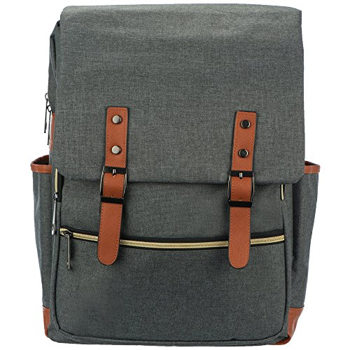 Diaper Bag Backpack with Grey Modern Unisex Design includes