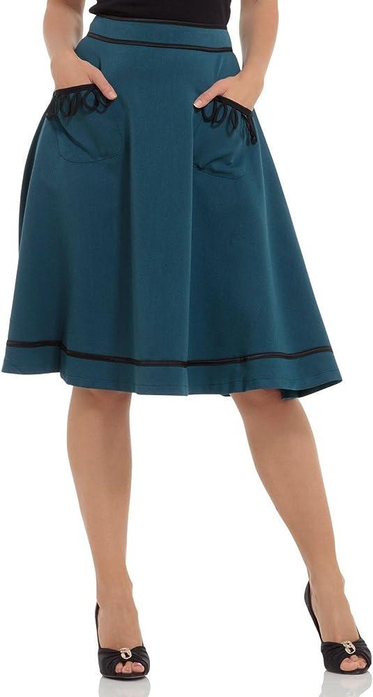 Voodoo Vixen - Falda - Campana - para Mujer Azul Azul Small ...
