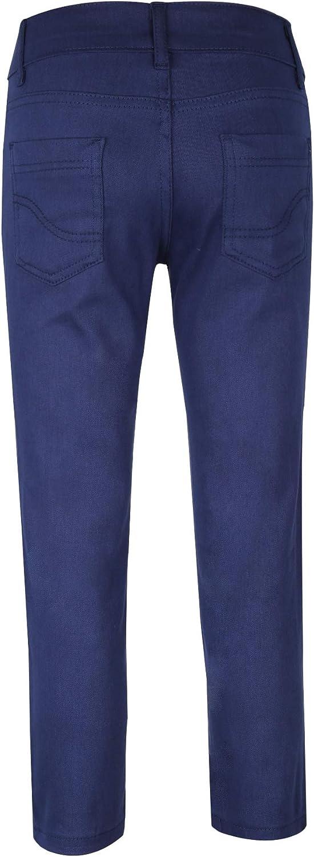 SIRRI Pantalon Chino D/écontract/é Extensible pour Gar/çons