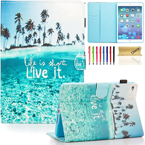 iPad Mini 4 Case, iPad Mini 1/2/3 Case 7.9 Inch, Dteck Ultra Slim Flip Stand Smart Case with [Auto Sleep/Wake] [Corner Protection] Protective Case for Apple iPad Mini 4 /Mini 2/3 - Beach
