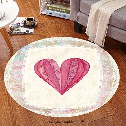 sophiehome suave alfombra 70808653Corazón, tarjeta de felicitación para San Valentín, Multicolor