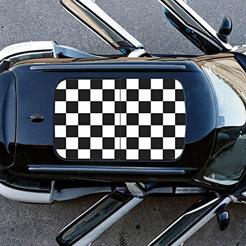 For Mini Cooper Roof Graphic Decal Perforated Vinyl Sticker Sunroof Accessories Checker R55R56R60 Mini Roof Decals