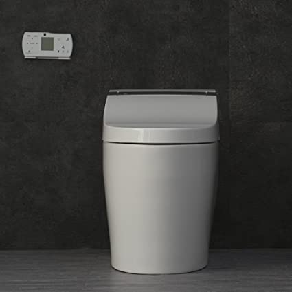Woodbridge B0950s Compact One Piece Dual Flush Toilet With