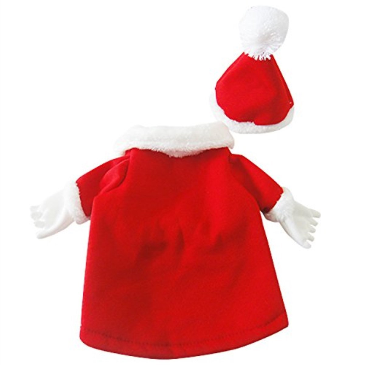 Mogoko Dog Cat Christmas Santa Claus Costume, Funny Pet Cosplay Costumes Suit a Cap, Puppy Fleece Outfits Warm Coat Animal Festival Apparel Clothes (M Size)