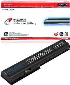 DR. BATTERY 480385-001 Laptop Battery Compatible with HP Pavilion DV7 DV8 Series GA08 516355-001464059-142 HSTNN-DB75 HSTNN-C50C 534116-291 486766-001 dv7t-3000 DV7 GA04 GA06[14.4V/4400mAh/63Wh]