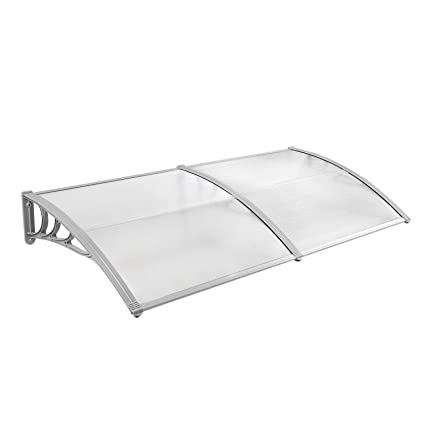 JOO LIFE 80u0026quot;x 40u0026quot; Window Awnings Front Door Canopy Outdoor Shade  Polycarbonate UV