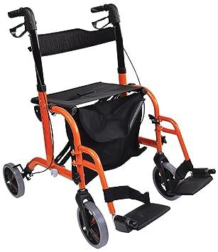 Aidapt - Andador/silla de tránsito combinado de doble ...