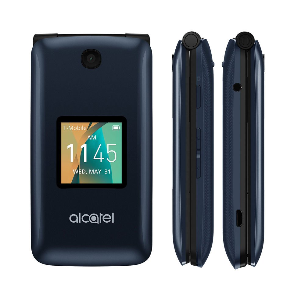 Amazon.com: Alcatel Go Flip Blue T-Mobile + Unlocked 4044W 4G LTE: Cell  Phones & Accessories