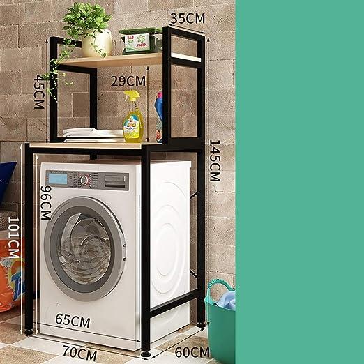 Machine shelf De una sola capa / doble piso de lavandería Estante ...
