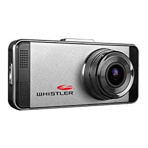 "Whistler D17VR Automotive DVR: Windshield Mount Dash Camera with 2.7"" LCD Monitor, 1080p HD"
