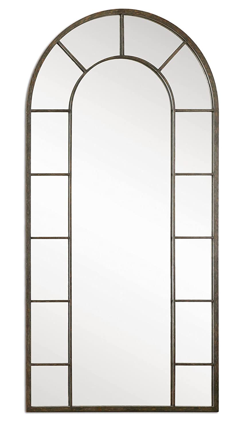 ballard beautiful home mirrors queen decor window arched decorate tall floors in barn pane framed arc mirror floor large the pottery house ikea affordable