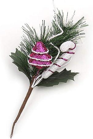 Riverbyland 3 Christmas Picks Silver Christmas Berry Spray 12 Pcs