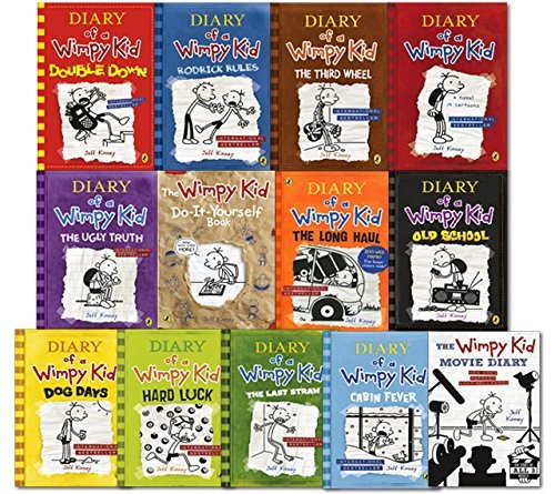 Diary of a wimpy kid collection 13 books set double down old diary of a wimpy kid collection 13 books set double down old school solutioingenieria Image collections