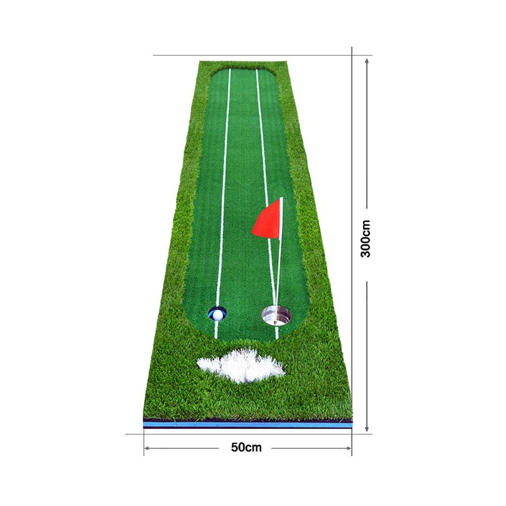 ダブルラインライングリーンズエクササイザ室内ゴルフボールブランケットボールパッドオフィス多機能プラクティスブランケット 0.5*3m Four-color grass B07FNLBV7V