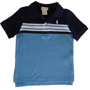 50862f091 Amazon.com: Ralph Lauren Baby Boys' Striped Cotton Mesh Polo Shirt 9 ...