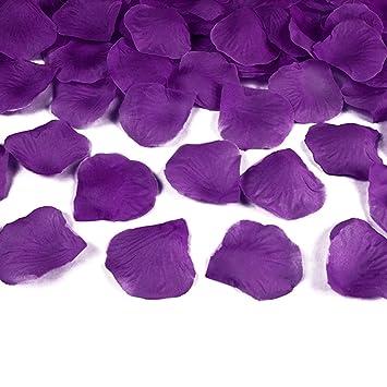 Wadoy 100 Rosenblatter Aus Stoff Lila Purple Hochzeit Streublumen