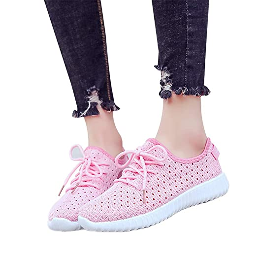 7d575039cc5aa Amazon.com: Aunimeifly Womens Breathable Mesh Flat Bottom Running ...