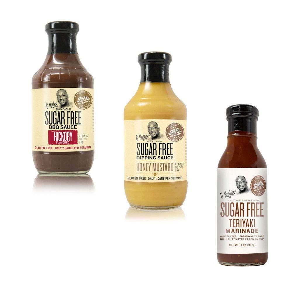 Sauce Bundle | Hickory BBQ Sugar Free Sauce | Honey Mustard Sugar Free Dipping Sauce | Sugar Free Teriyaki Marinade | Gluten Free