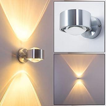 wandlampe silber mit besonderem lichteffekt dimmbare metall lampe mit glas schirm indirekte raum beleuchtung fur alle raume amazon de beleuchtung