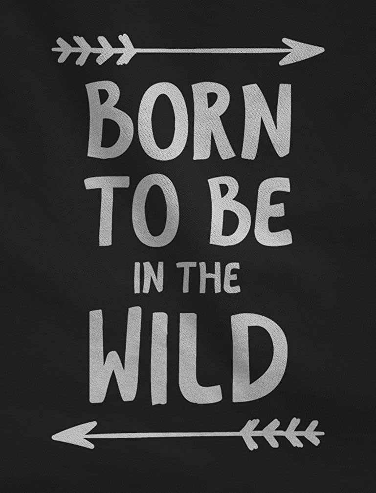 Funny Camping Gift Toddler Hoodie 5//6 Gray Born to Be in The Wild