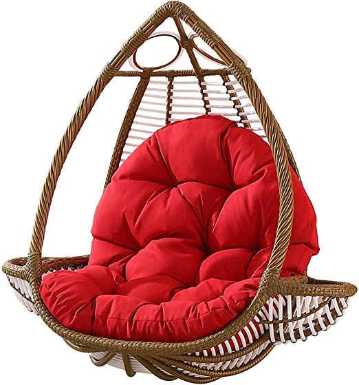 Amazon Com Yayong Swing Chair Cushion Round Wicker Hanging Egg Rattan Chair Hammock Pad Indoor Outdoor Color1 Home Kitchen